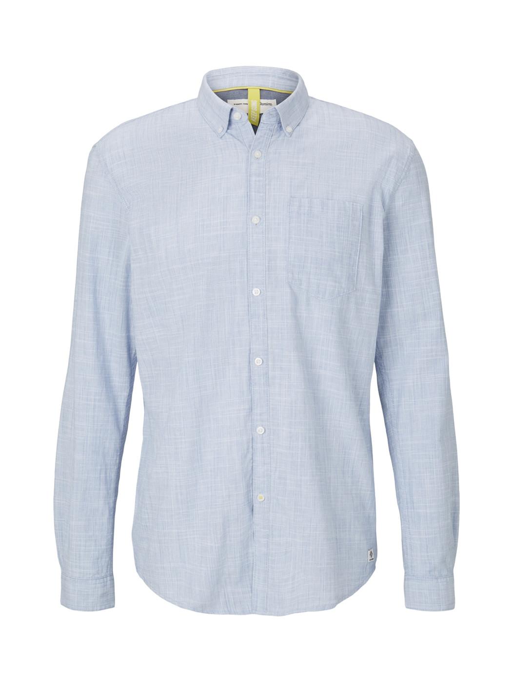 button down slub shirt - Herren
