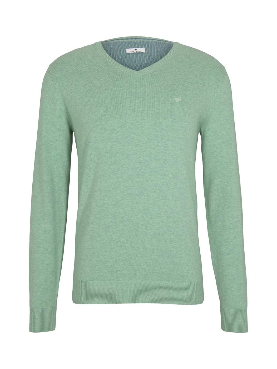 basic v neck sweater - Herren