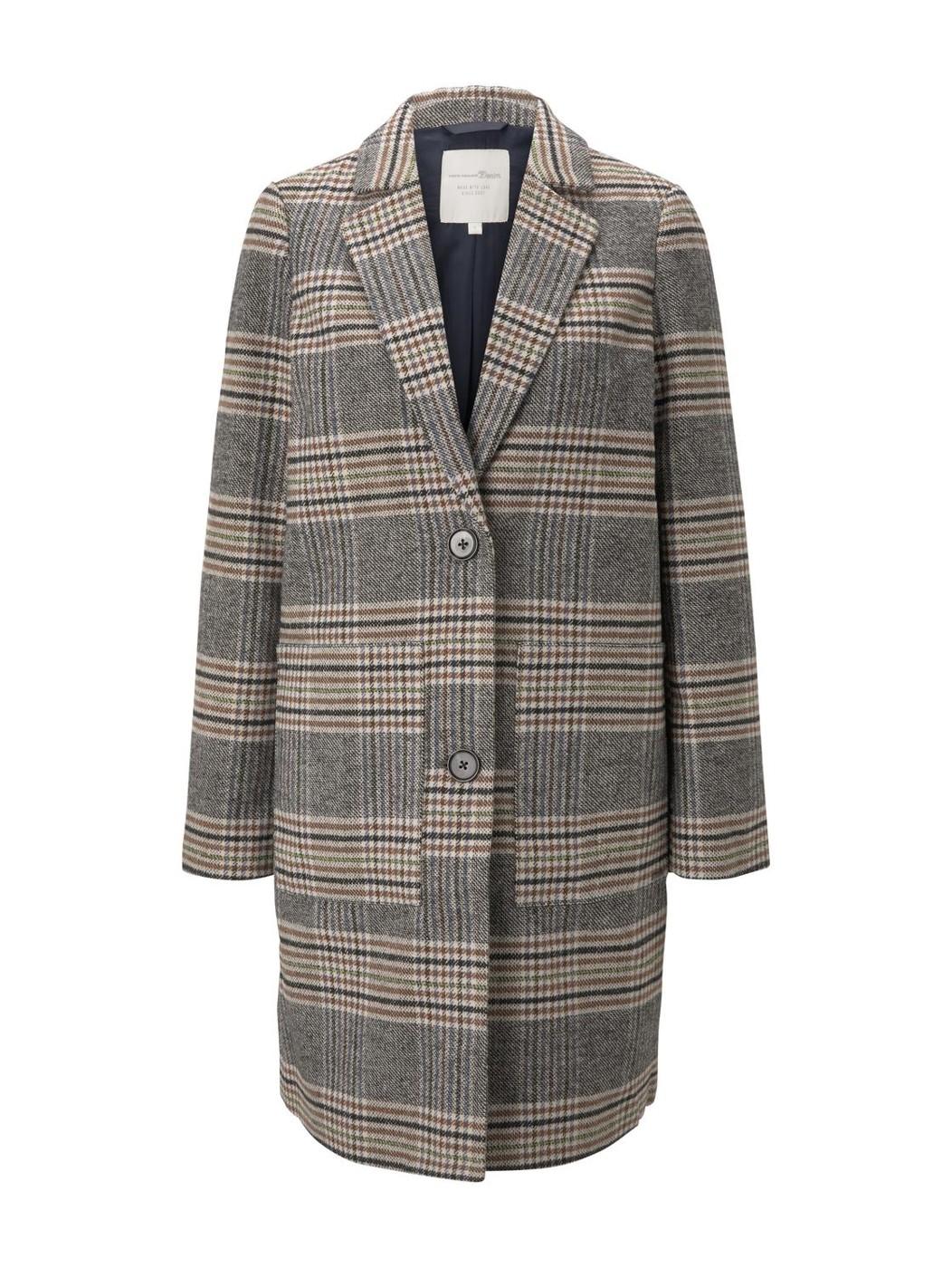 check blazer coat - Damen