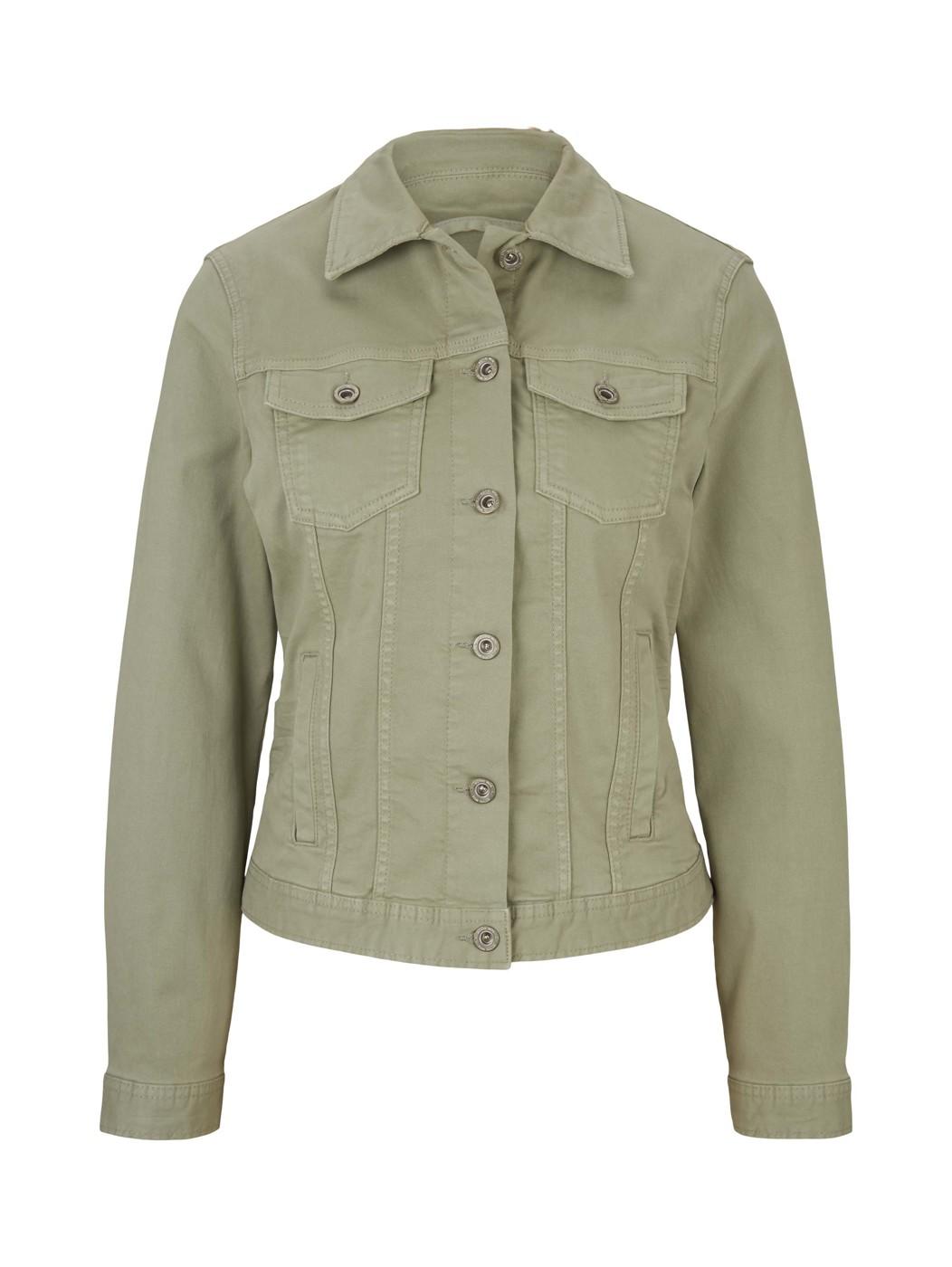 color denim jacket - Damen