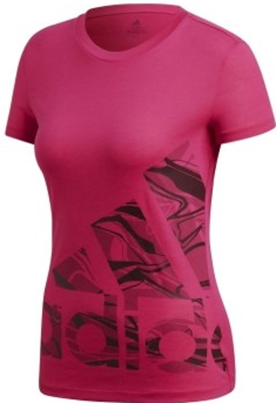 adidas Damen Adi Logo Tee T Shirt rosa NEU Polos & Shirts