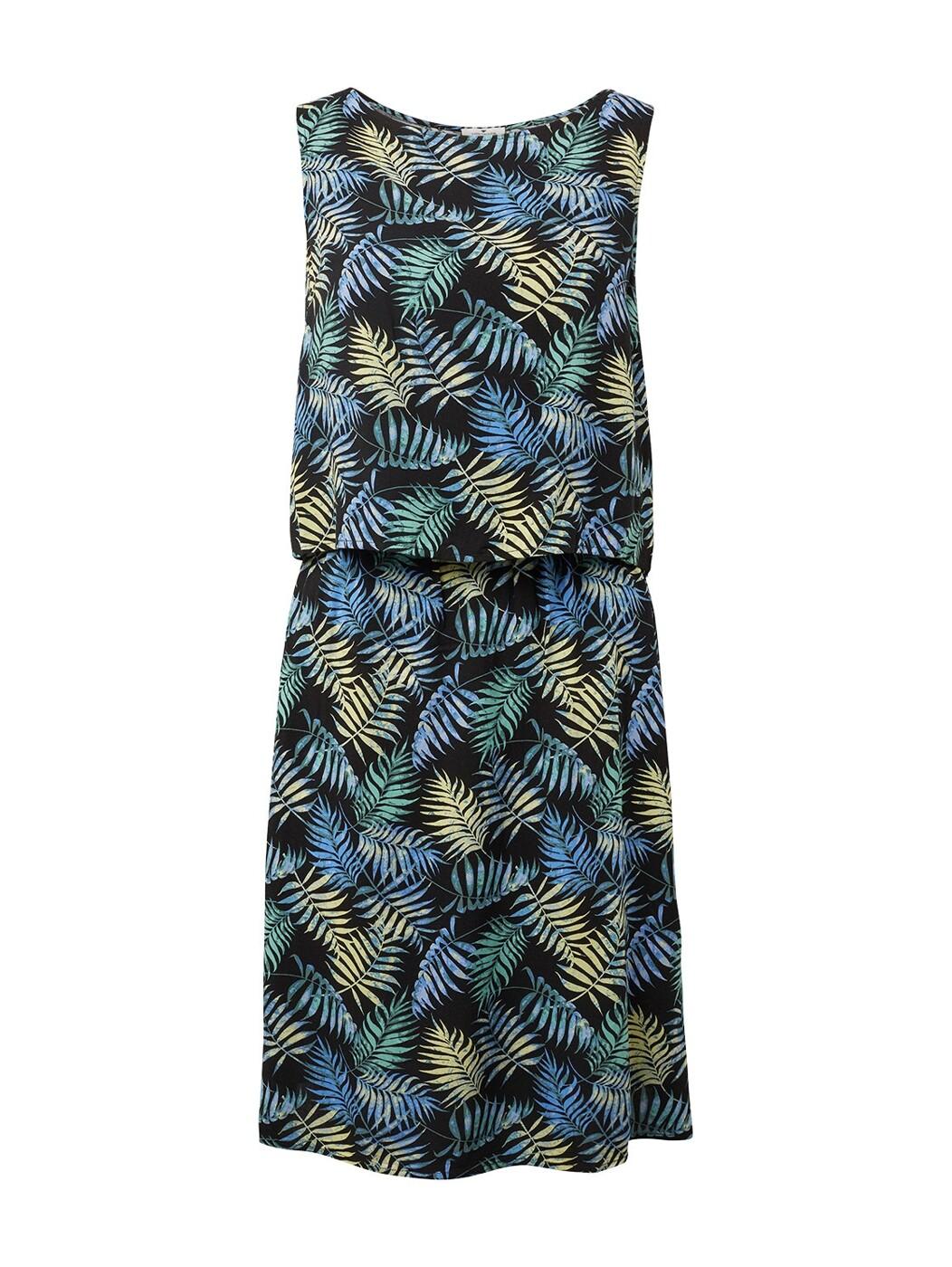 2 in 1 print dress - Damen