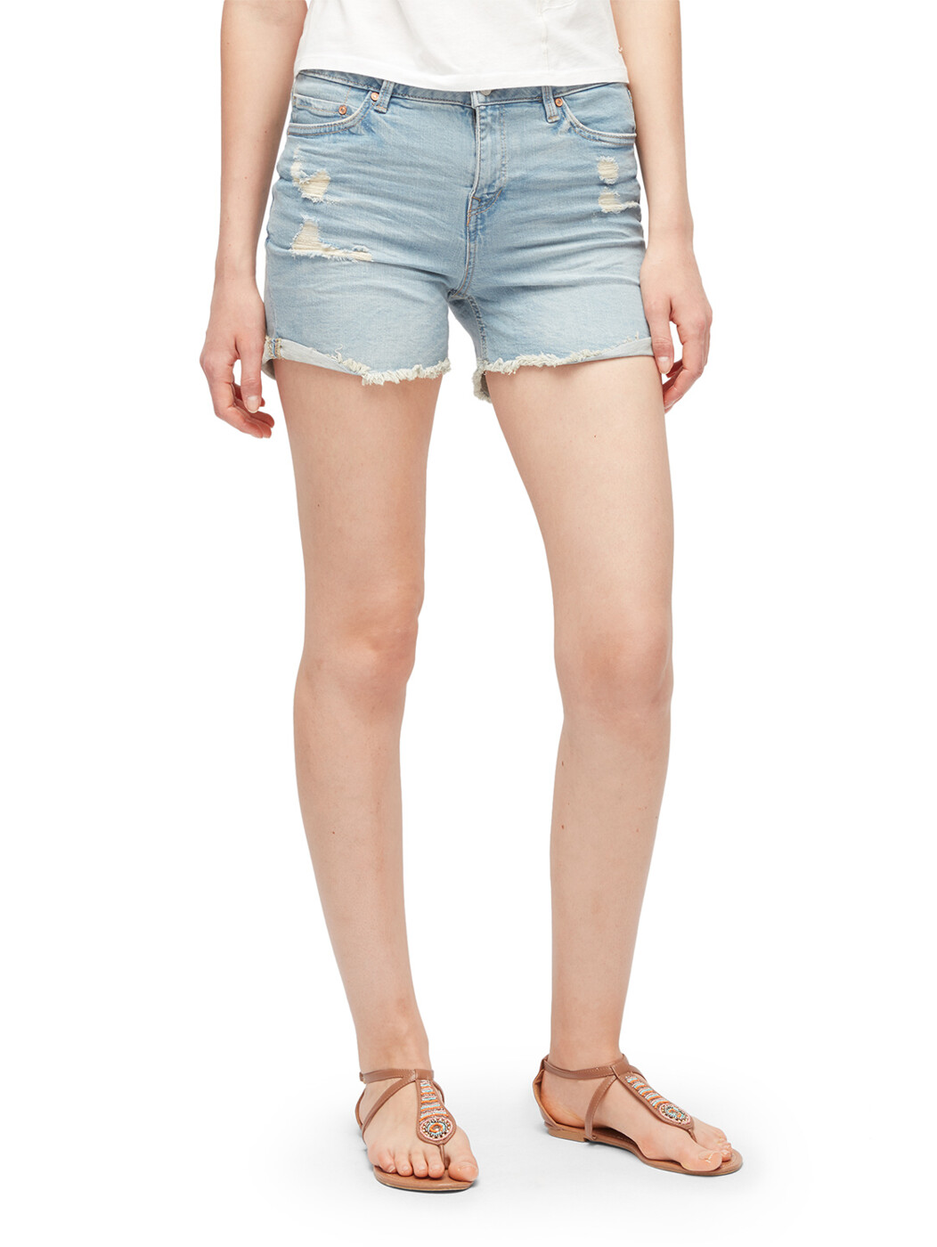 Distressed Cajsa Denim Shorts - Damen