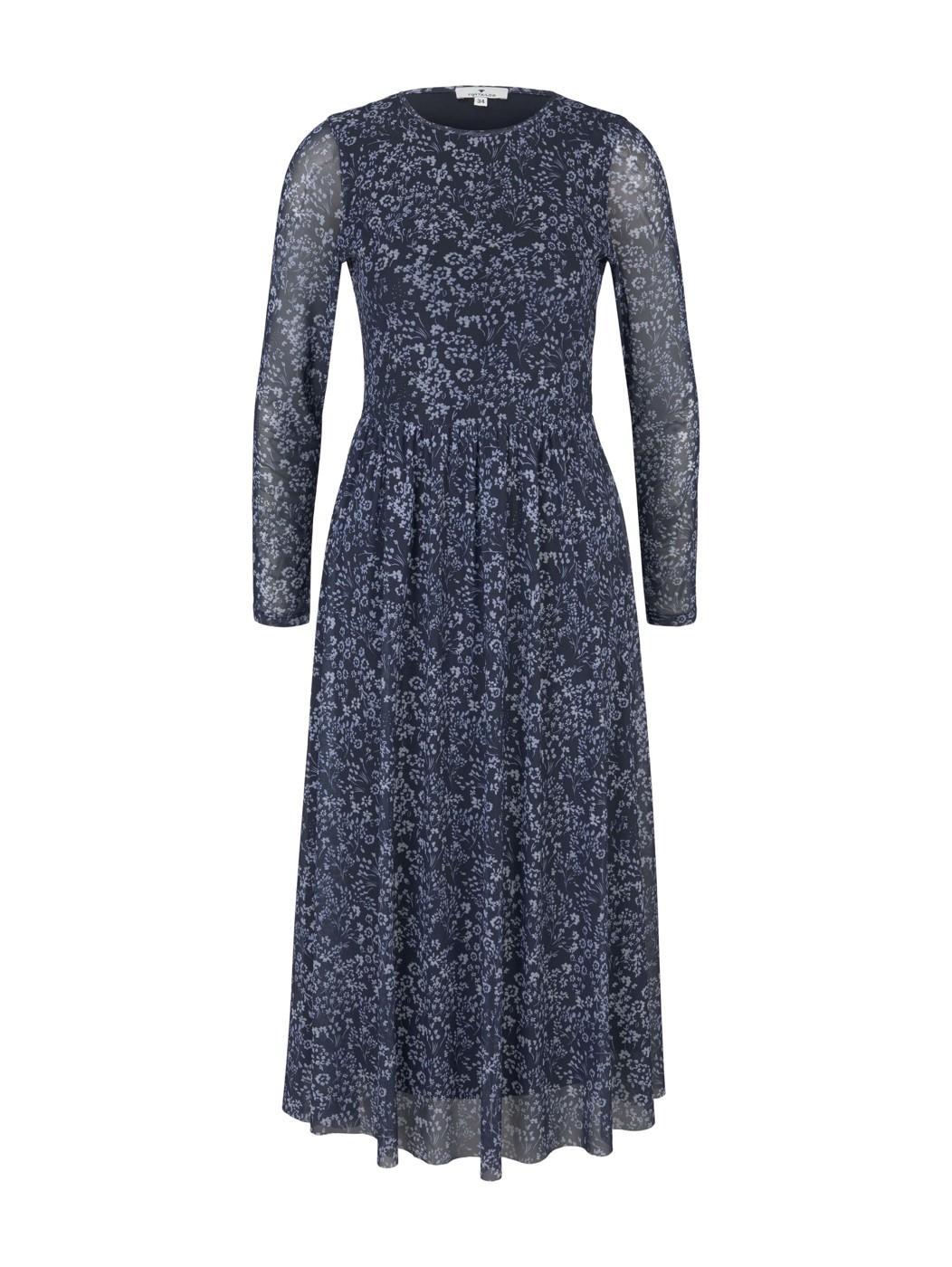 dress mesh midi - Damen