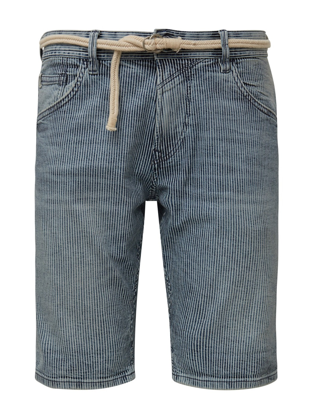 regular denim shorts with belt - Herren