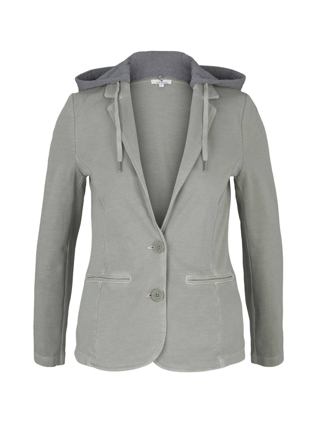 hooded blazer casual washed - Damen