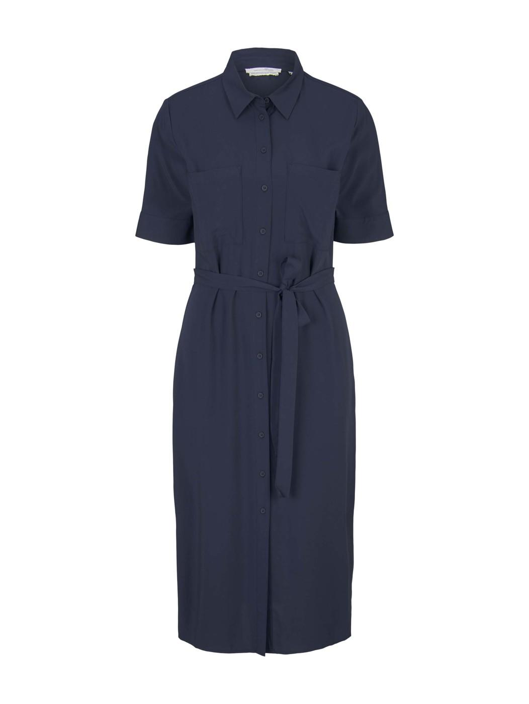 button down midi dress - Damen