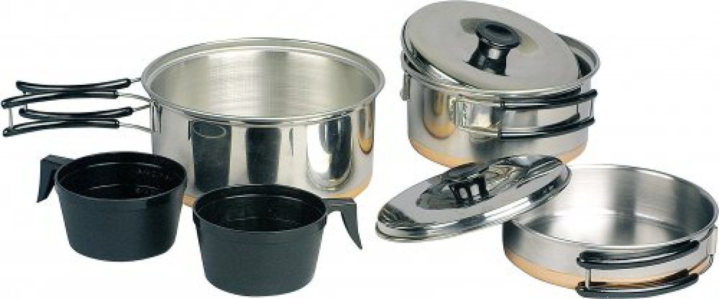 HIGH COLORADO COOKING SET STEEL